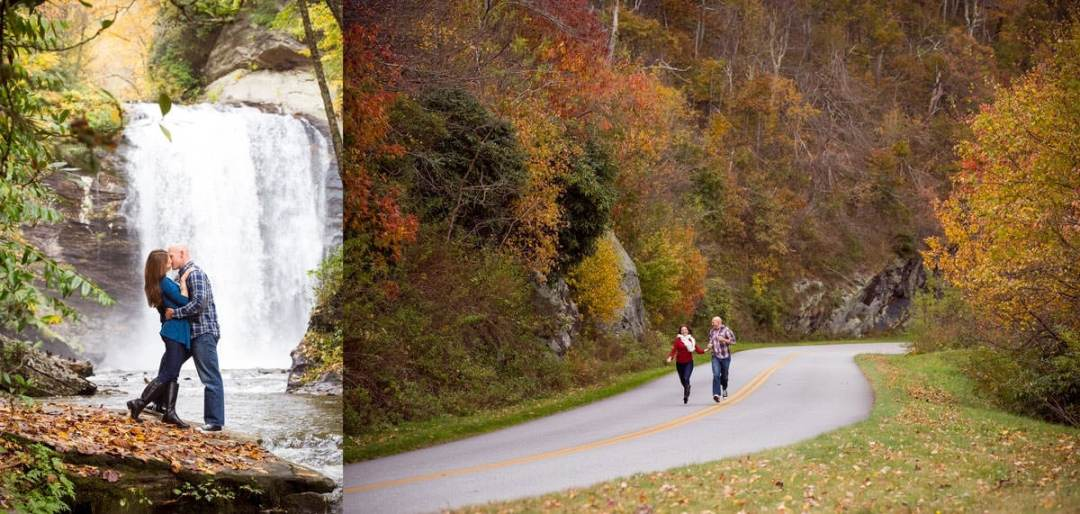Engagement session on the Blue Ridge Parkway
