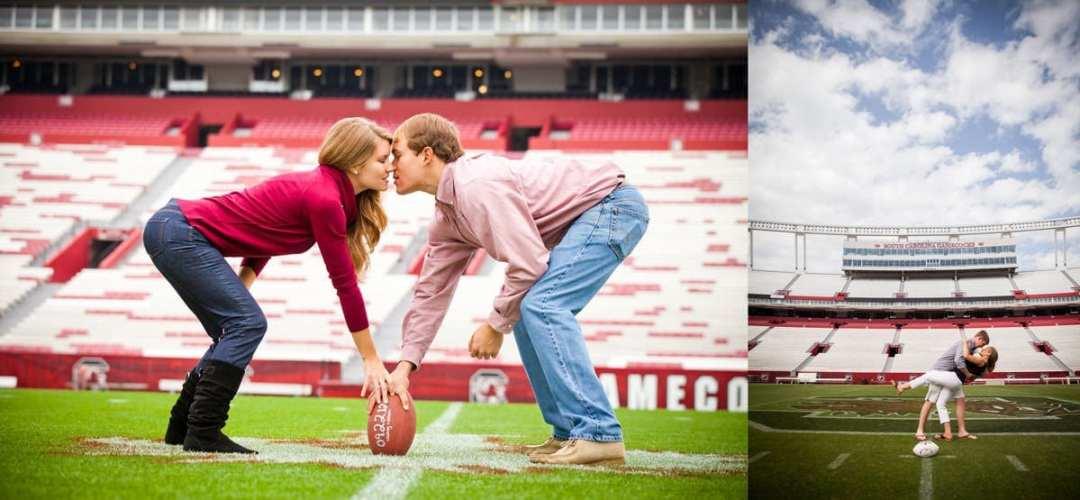 How to take engagement photos at Williams Brice Stadium