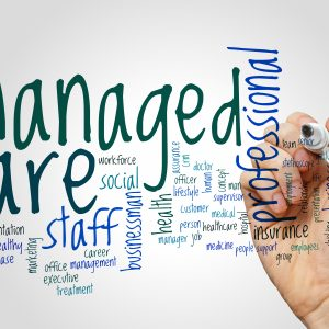 Managed care word cloud concept