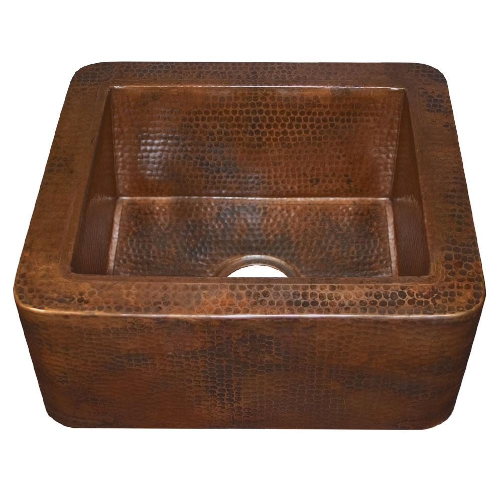 cabana bar and prep sink in antique copper