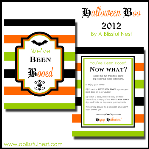 DIY Boo Signs Tutorial Weve Been Booed A Blissful Nest
