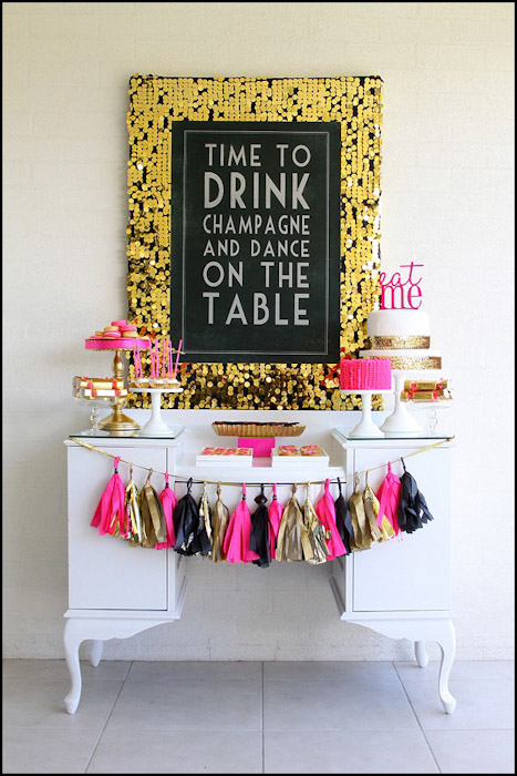 May Designs Created To Celebrate Her 40th Birthday It Is The Perfect Combination Of Fun And Sophisticated With A Pink Black Gold Color Palette