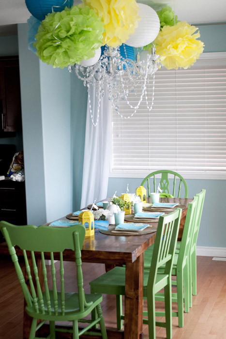 Boho Chic birthday party seating table decor