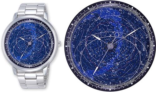 Citizen Astrodea Stargazing Watch Collection ABlogtoWatch - Star map watch