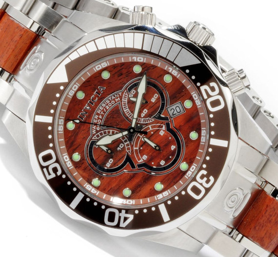 Invicta Pro Diver Wood Watch Watch Releases