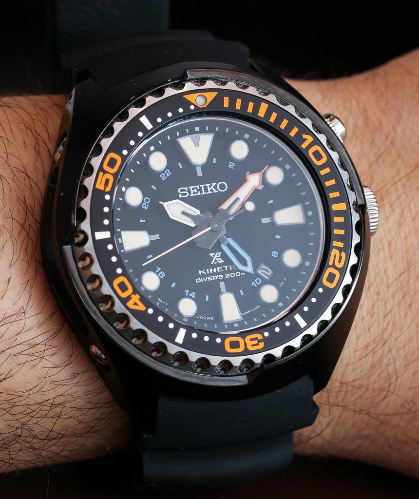 Seiko Prospex Kinetic Gmt Divers 200m Watch Hands On Ablogtowatch Sun043
