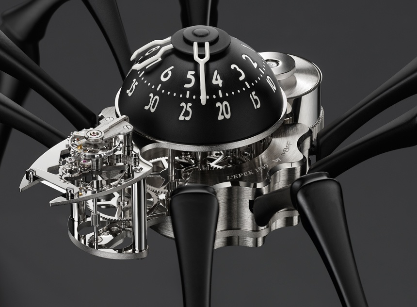 MB&F Arachnophobia Table Clock Is Giant Time-Telling Spider On Your Desk Or Wall Watch Releases