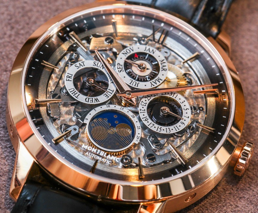 4dfe7b6a07c Montblanc Heritage Spirit Perpetual Calendar Skeleton Sapphire Dial Watch  Hands-On Hands-On