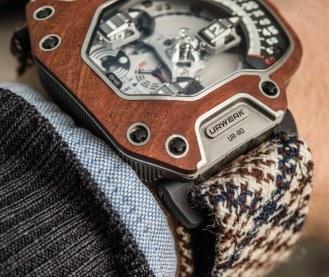 Urwerk UR-110 Eastwood Watch With Ebony Wood Bezel Hands-On Hands-On