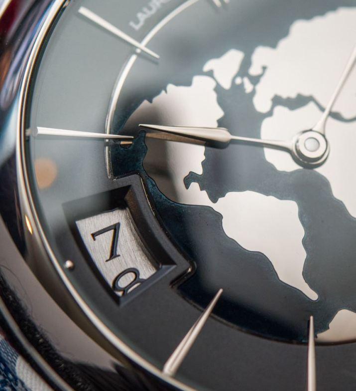 Laurent Ferrier Galet Traveller Globe Night Blue Watch Hands-On Hands-On