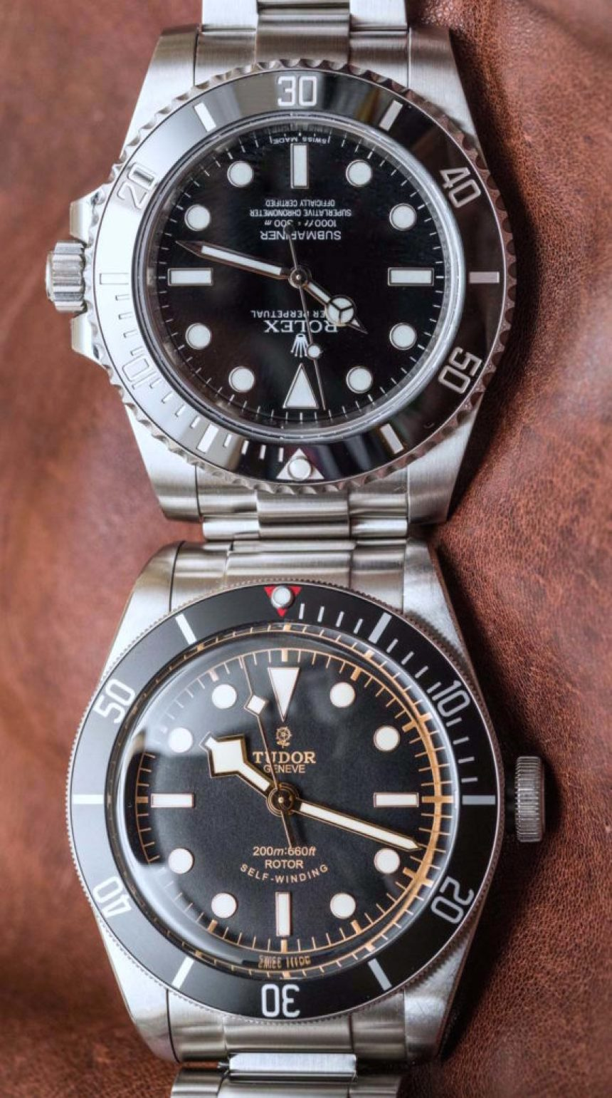 rolex submariner 114060 39 no date 39 vs tudor heritage black bay black comparison watch review