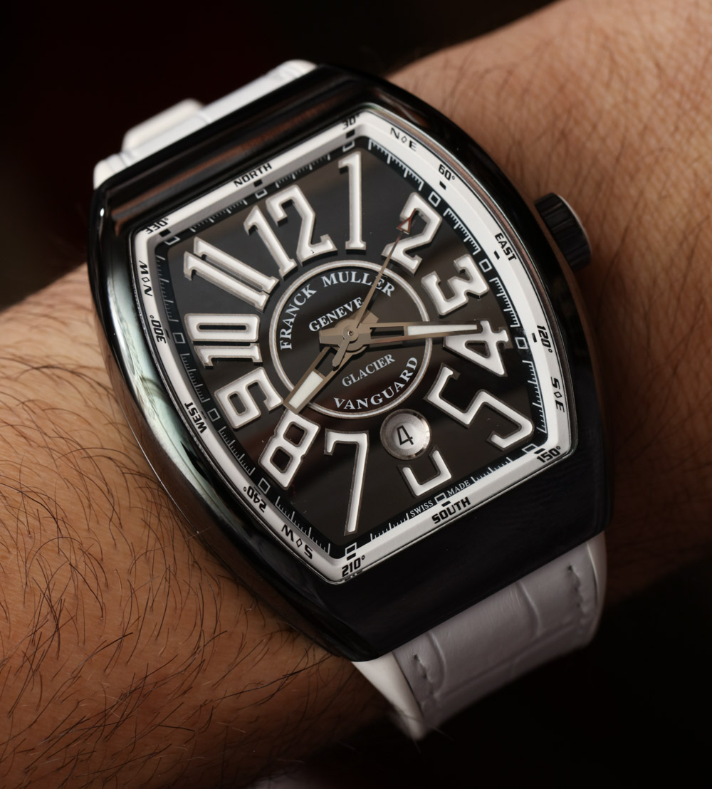 Franck Muller Vanguard Glacier Watch Hands On ABlogtoWatch