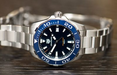 New TAG Heuer Aquaracer Black Titanium Watches For 2016 Hands-On Hands-On
