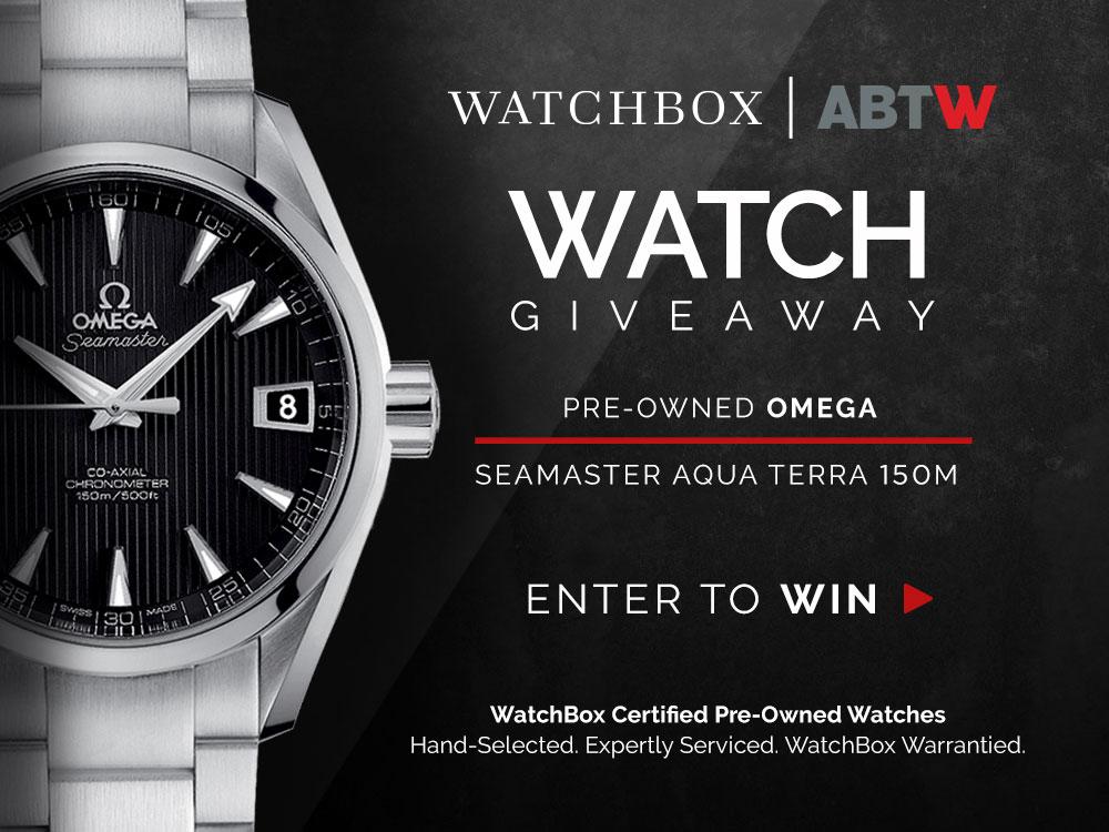 WATCH GIVEAWAY: Omega Seamaster Aqua Terra 150m From WatchBox Giveaways