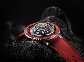 MB&F HM7 Aquapod Platinum Red Watch Brings More Than Just Color To The Aquapod Range Watch Releases