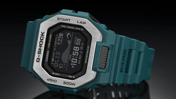 Casio Updates G-Shock G-Lide Series With Three New Models Designed For Surfers