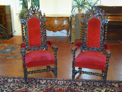 fauteuils de style louis xiii