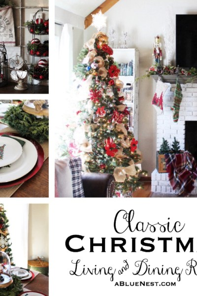Classic Christmas Living and Dining Rooms