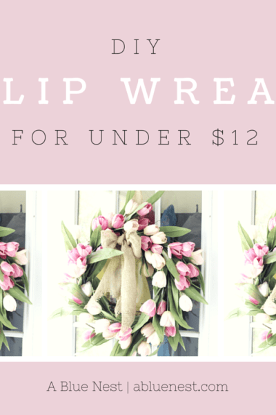 DIY Tulip Wreath for Cheap