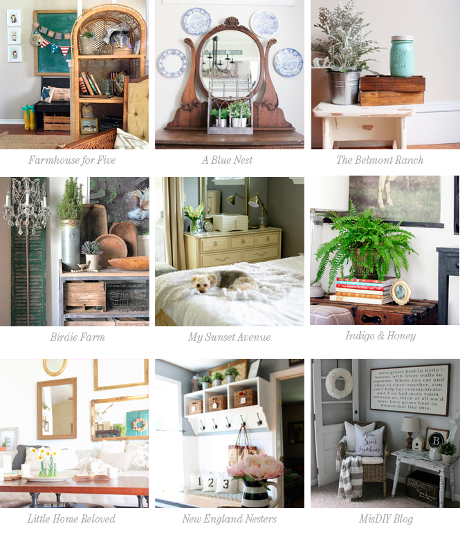 Vintage Pieces in a Modern Home|A Blue Nest