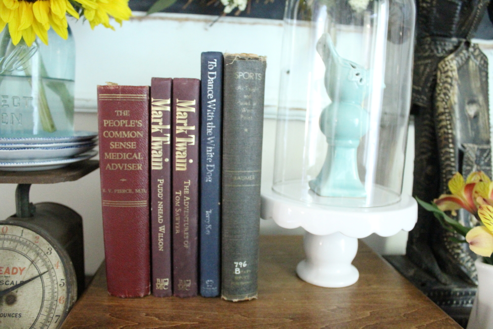 Decorating with Vintage Books - A Blue Nest