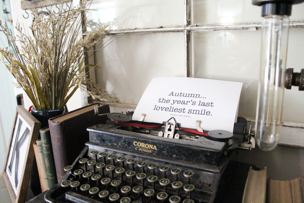 My New Old Typewriter and Fall Printables | A Blue Nest