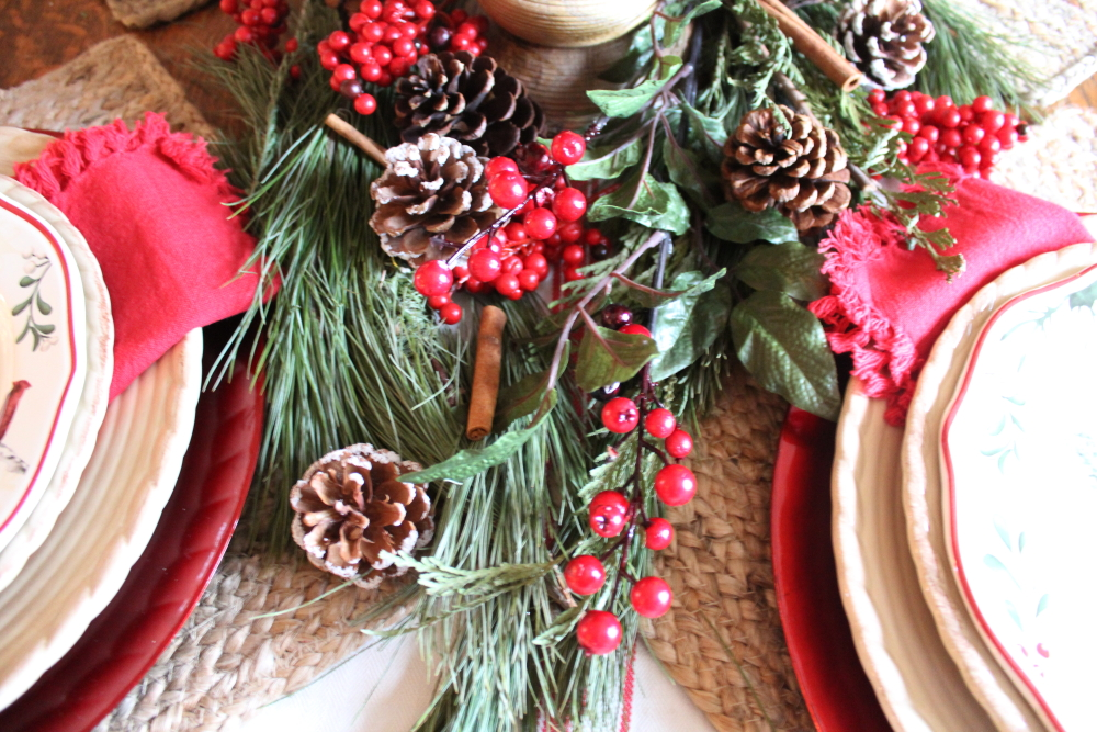 A Very Merry Tablescape & Our Christmas Dining Room | A Blue Nest