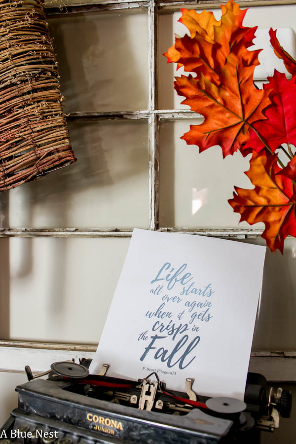 free printable, fall quote