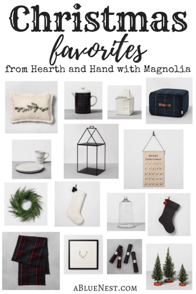 In case you are still looking to add a few new things to your home this Christmas, I rounded up some of my favorite items from the Christmas collection from Hearth and Hand with Magnolia.