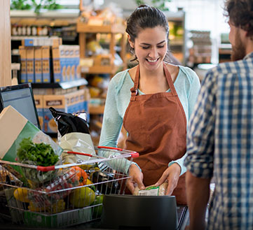 Caisses enregistreuses commerce alimentaire