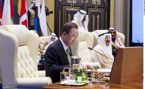 Secretary-General Ban Ki-moon Humanitarian Pledging Conference for Syria in Kuwait City