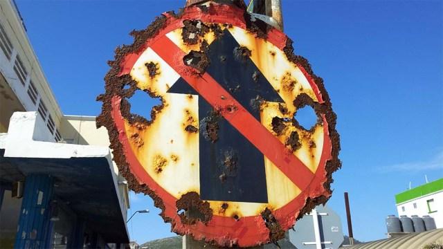 Straßenschild in Piriápolis