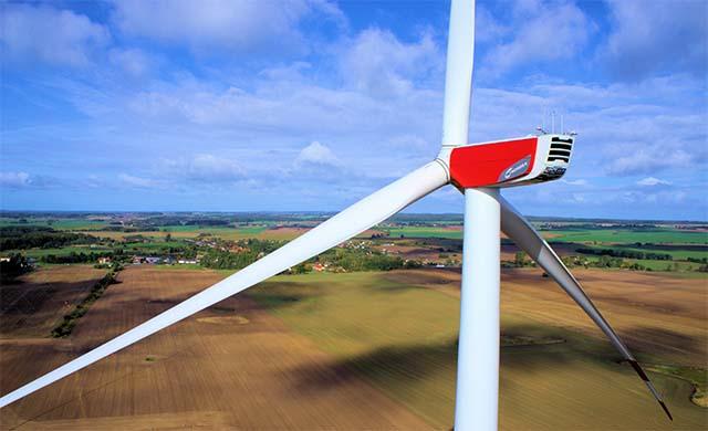 N117/2400 Gamma (2,4 MW) Windenergieanlage auf 141 Meter Hybridturm