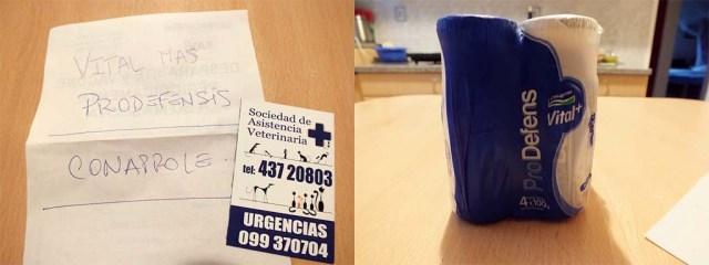 """""""Rezept"""" für Joghurt und die Notfall-Nummer"""