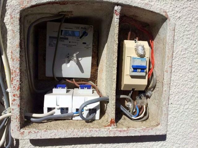 Unser Stromzähler am Haus