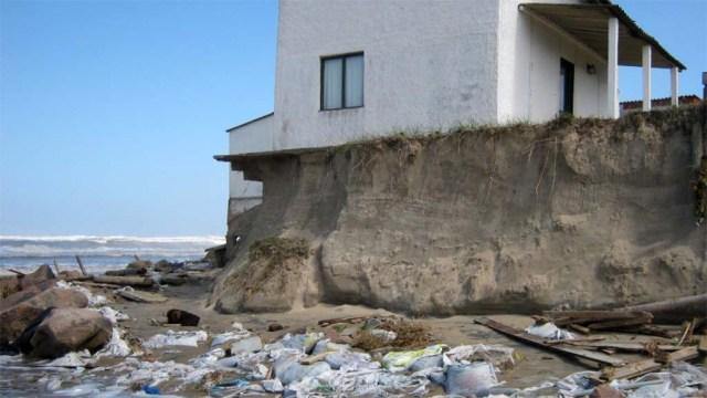 Einige Häuser stehen noch sind aber nicht mehr bewohnbar.