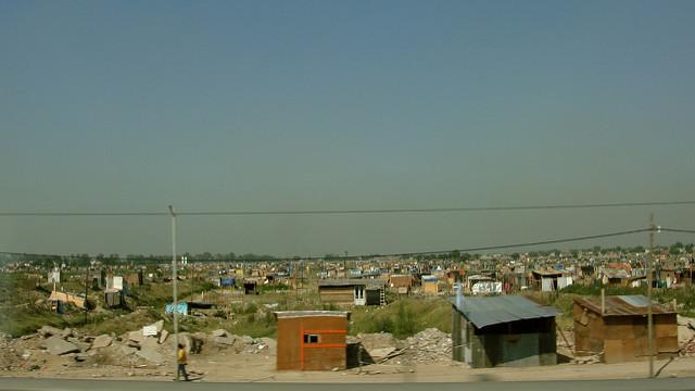 Armenviertel rund zehn Minuten außerhalb von Buenos Aires, Argentinien