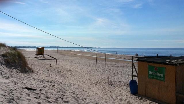 Strand Las Toscas morgens am 23. Februar - 28°C