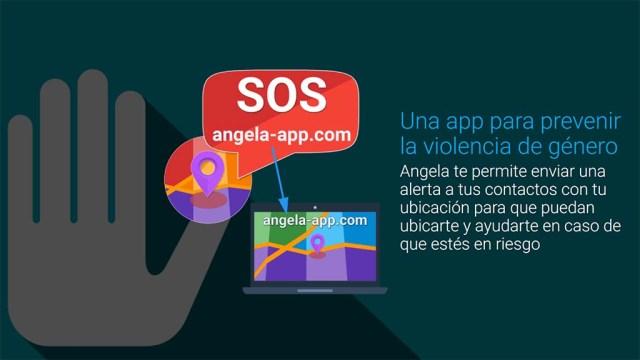 """Anleitung zur Nutzung der App """"Angela te protege"""""""