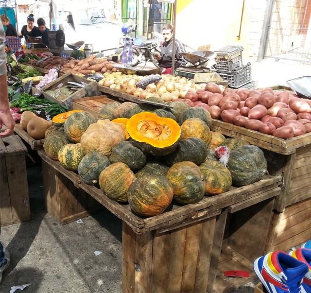 Gemüse Stand auf der Feria