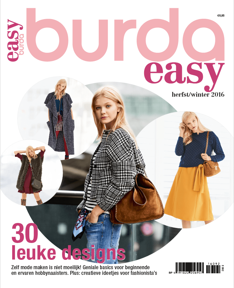 burda easy herfst winter 2016 abo geen verzendkosten in nederland. Black Bedroom Furniture Sets. Home Design Ideas