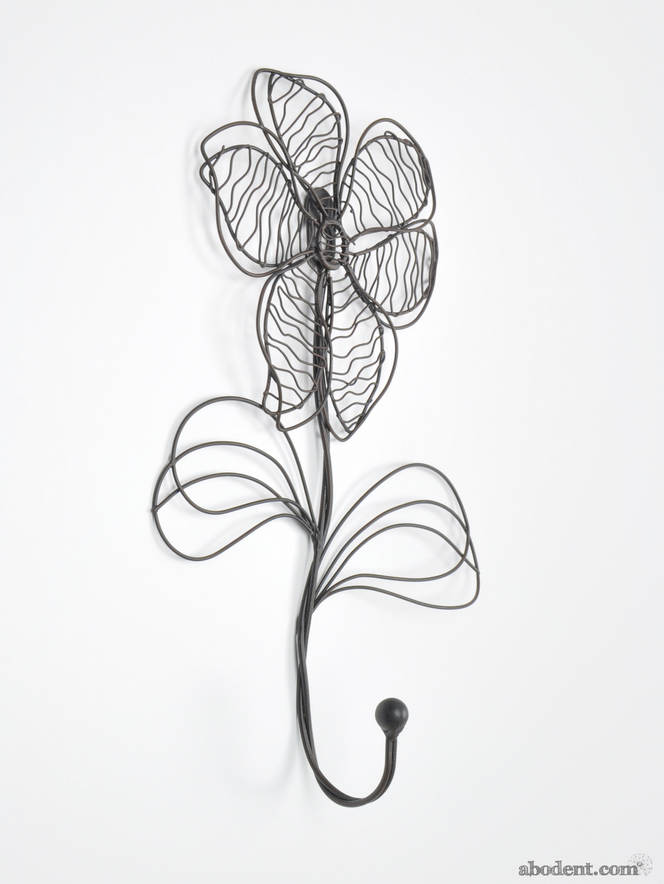 Black Wire Flower Shaped Coat Hook Hooks Wall Mounted Door
