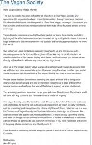 Douglas statement