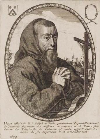 Portrait de capucin, ordre fondé en 1528