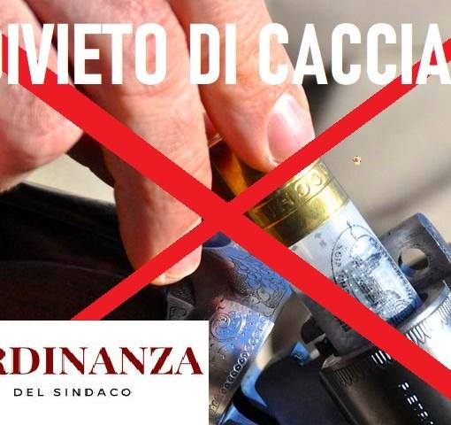 DIVIETO CACCIA ORDINANZA SINDACO