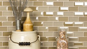 Free Flow 1 In X 2 In Glass Brick Mosaic In PASTIS Blend
