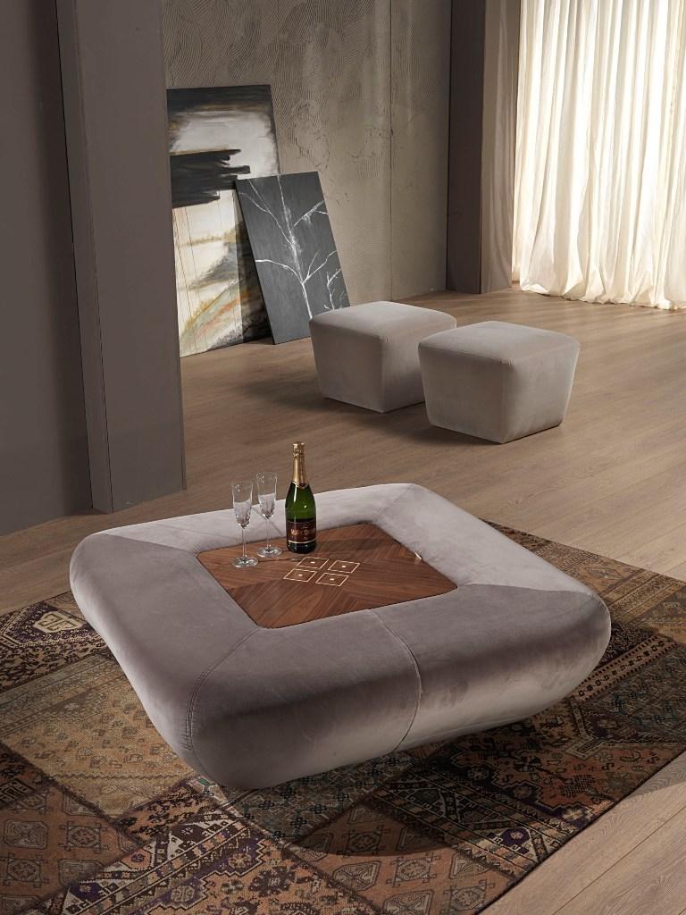 carpanelli contemporary morfeo pouf table basse avec bar integre