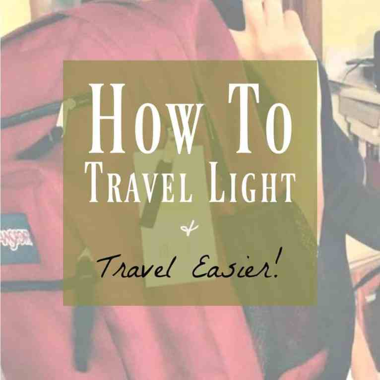 Backpack Travel and travel light