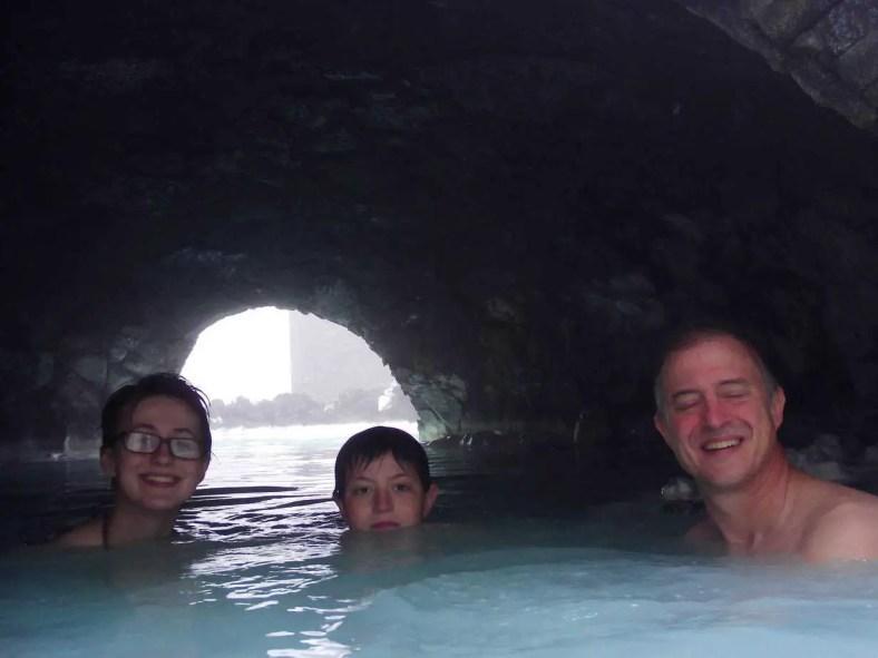 Lava cave at Blue Lagoon