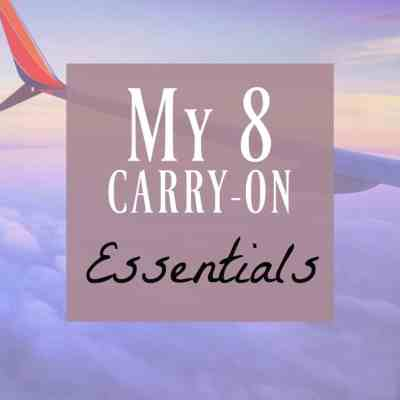 What I Pack in my Carry-On